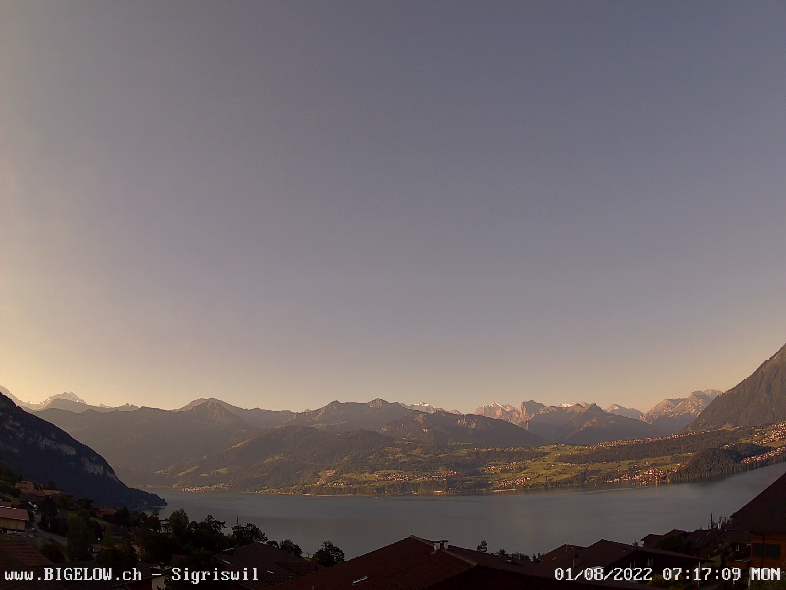 A view of Lake Thun from Sigriswil